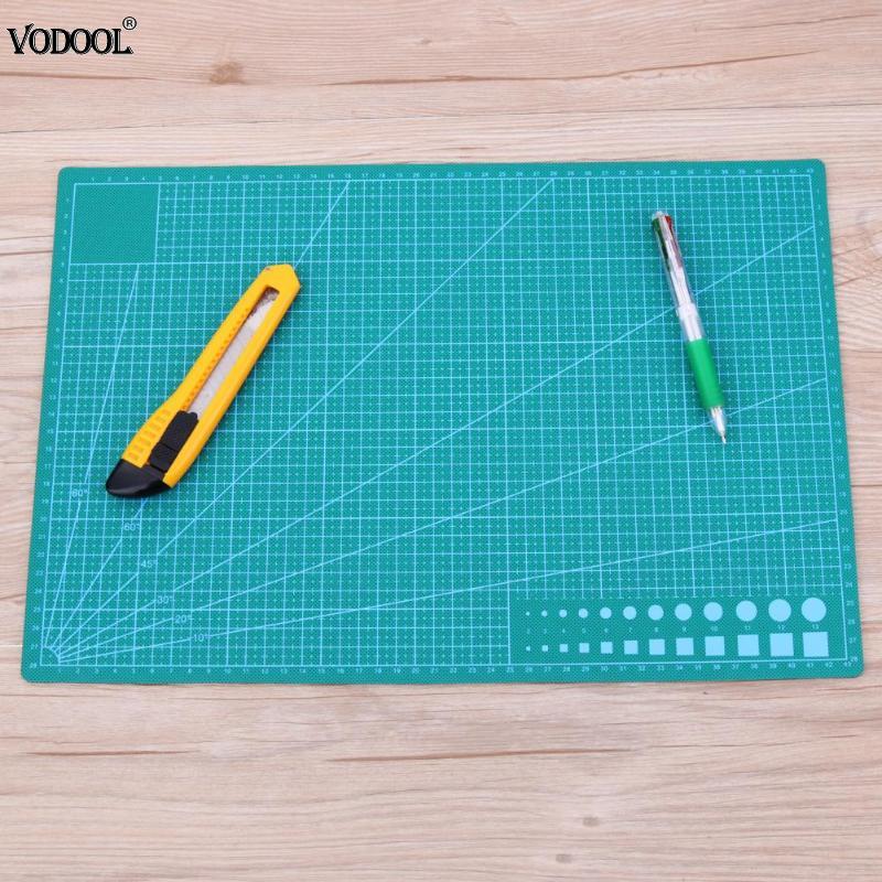 A3 PVC Cutting Mat Double-sided Cutting Pad Patchwork Sewing Tools Cloth Making Cutting Board Self-healing Manual DIY Cut Tool