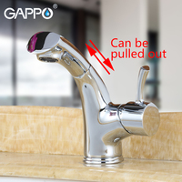GAPPO Basin Faucet basin chrome mixer taps waterfall bathroom mixer faucets bath Deck Mounted pull out taps Faucets