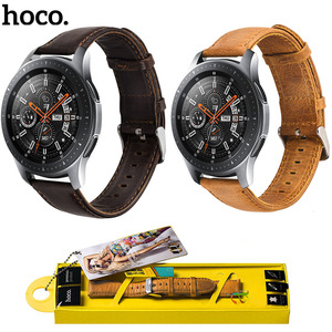 Image 3 - Original HOCO Brown Cowhide Watch Band for Samsung Galaxy Watch 42mm/46mm Genuine Leather Strap Retro Replacement Wristband