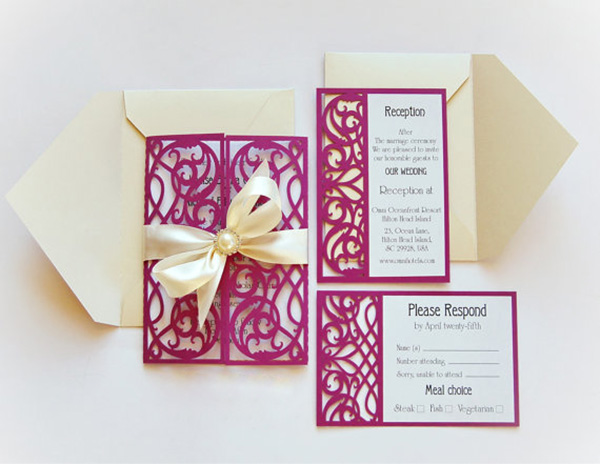 Gatefold Invitations as Great Style To Make Unique Invitation Design