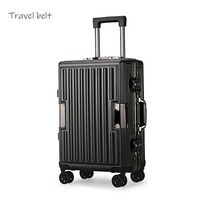 mechanical Anti fall Wear resistant 100% aluminum frame 20/24 inch size Rolling Luggage Spinner brand Travel Suitcase