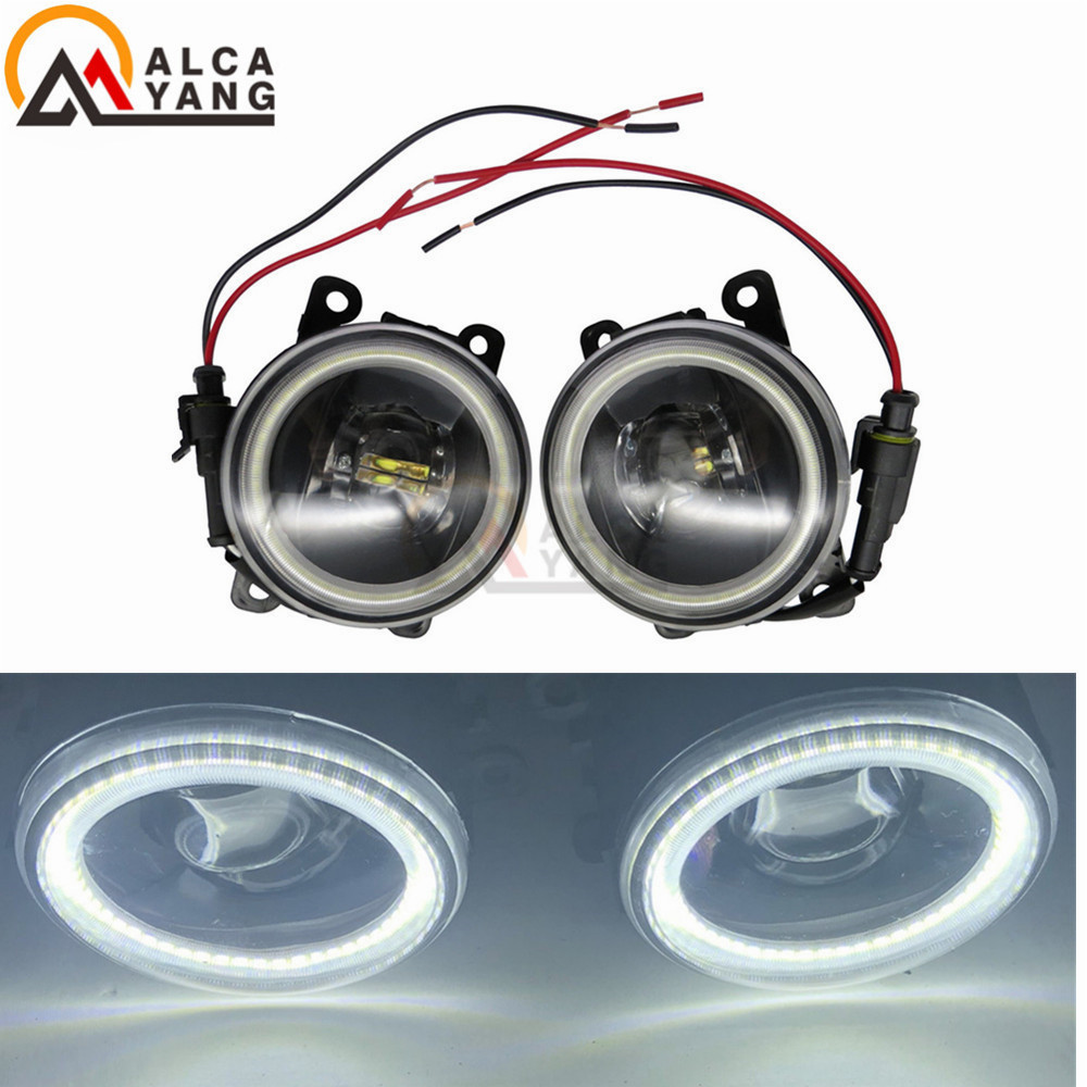 Car-styling High Brightness Fog Lamp Assembly For Suzuki Grand Vitara Alto Swift Ignis Jimny Splash 1998-2015 Angel Eye july king bifocal lens fog lamp cob angel eye rings drl case for suzuki alto sx4 swift splash daci a mazda bt 50 fiat dfmc etc