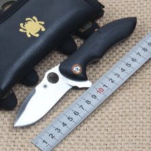 58HRC 9CR18MOV Blade G10 Handle Survival Knife Spyder Folding Knife Pocket Hunting Tactical Knives Camping Outdoor Tools sp01