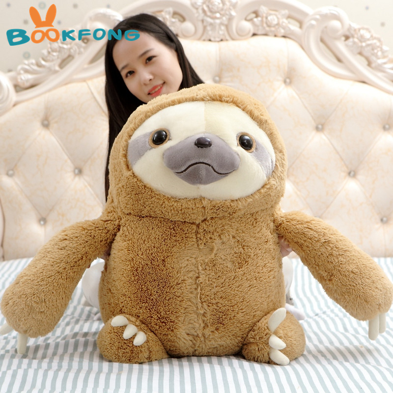 70cm Big Size New Arrived Sloth Plush Toy Sloth Soft Stuffed Doll Cute Sloth Plush Gift Simulation Sloth Doll stuffed animal 120 cm cute love rabbit plush toy pink or purple floral love rabbit soft doll gift w2226