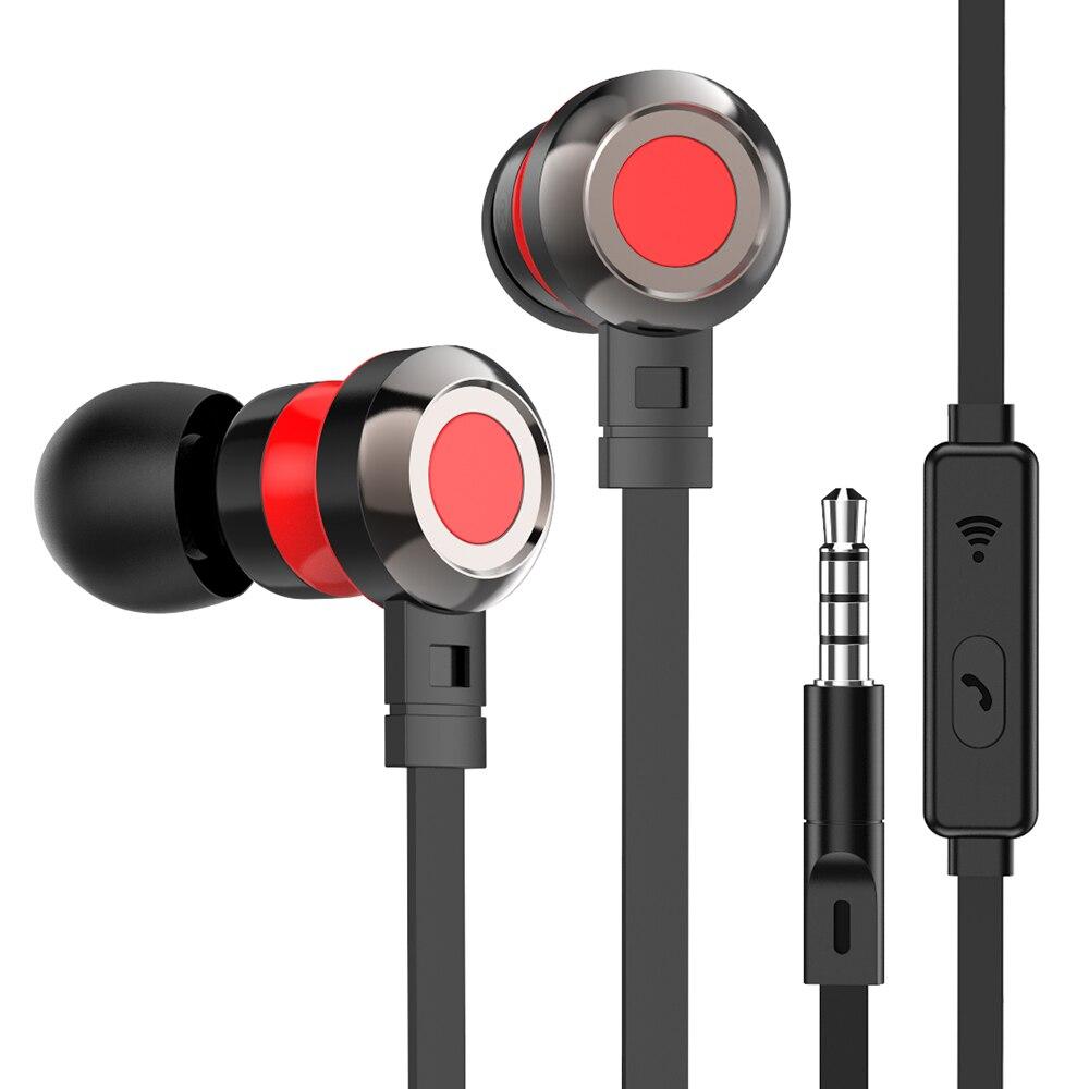 Tête téléphones tête set écouteurs dans l'oreille sport écouteurs avec micro basse auriculares con câble oyuncu kulaklik pc ecouteurs avec fil