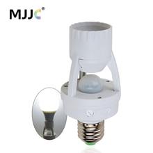 E27 Motion Sensor Light Switch 110V 230V 220V Motion Detector E27 Base Lamp Holder With Light Control Switch Bulb Socket Adapter