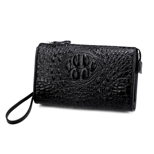 7be0666ae1510 Crocodile pattern men pure genuine leather handbag male business leisure  mobile phone bag card holder wallet Men s envelope bag