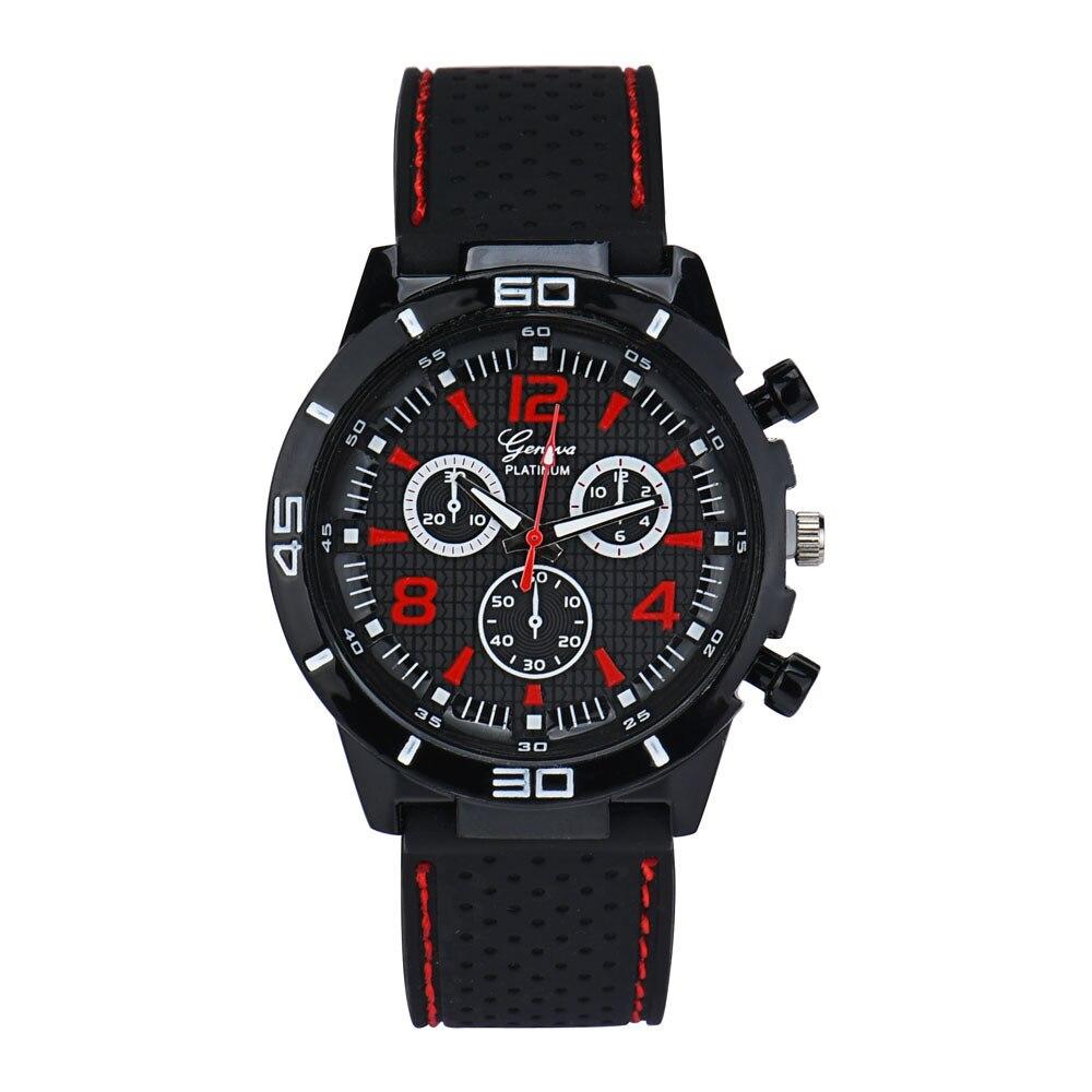 2018 Hot Sale 1PC Men Military Watches Sport Wristwatch Silicone Fashion Hours Quartz Watch relogio masculino gift