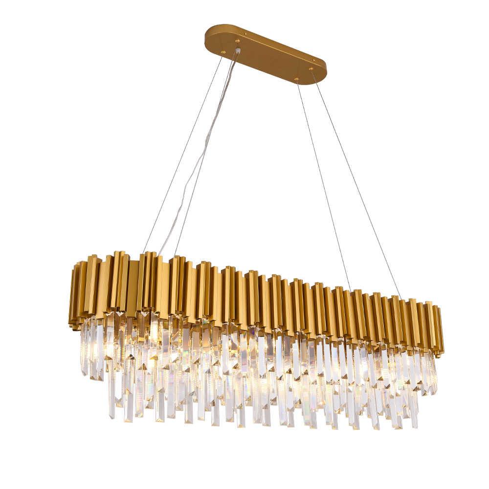 Новое поступление золотой светильник в современном стиле Прямоугольные осветительные приборы-люстры светильник для столовой гостиной отеля лампа