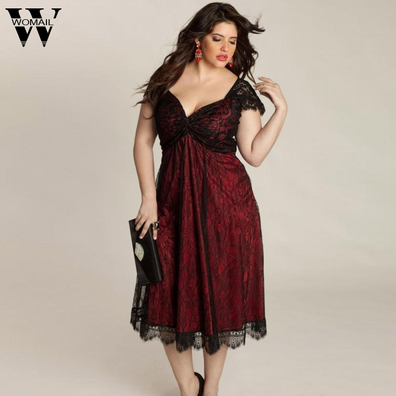 Womail Dress Broadcloth Regular Vestidos Beautiful Dresses Plus Size Women Lace Long Evening Party Prom Gown Formal Dec27 In From S