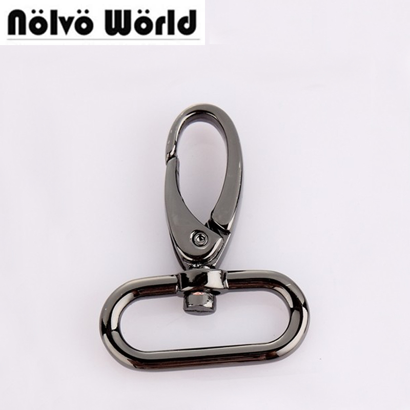 3.5mm line 32mm(1 1/4 inside) trigger snap hook black gun swivel clasp lobster claws swivel hooks hardware,free ship метчики 1 4 32