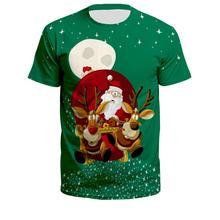 Unisex Santa Claus printed Christmas T-shirt