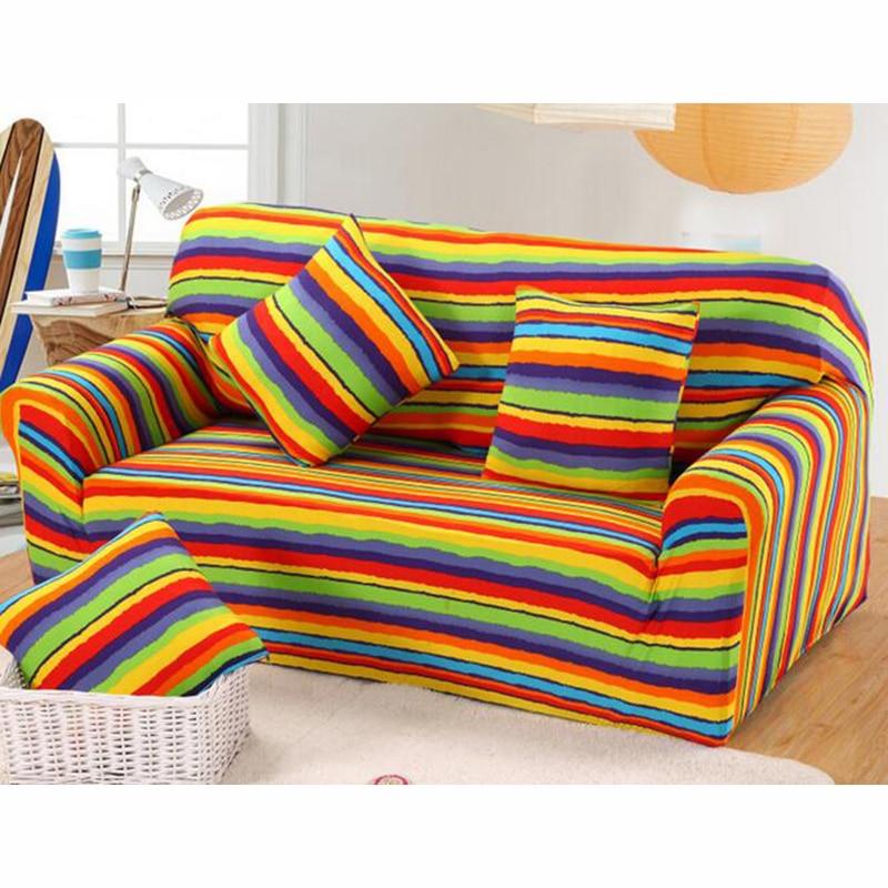 Colorful Rainbow Sugar All Inclusive Sofa Cover Living