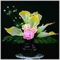 Hand-made flor De Fibra Calla peônia Artificial Para A Decoração Do Casamento Do Partido Da Flor de Presente Do Hotel/Home Decor 2016