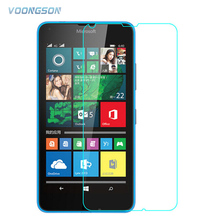 VOONGSON Screen Tempered Glass For Microsoft Nokia Lumia X XL 640 950 630 650 550 530 535 6 5 730 735 830 Premium Protector Film microsoft lumia 550 black
