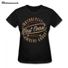 Punk Women T Shirts Summer Short Sleeve 100% Cotton Motorcycle The Original West Coast Owners Group Printed T-shirt WTQ178
