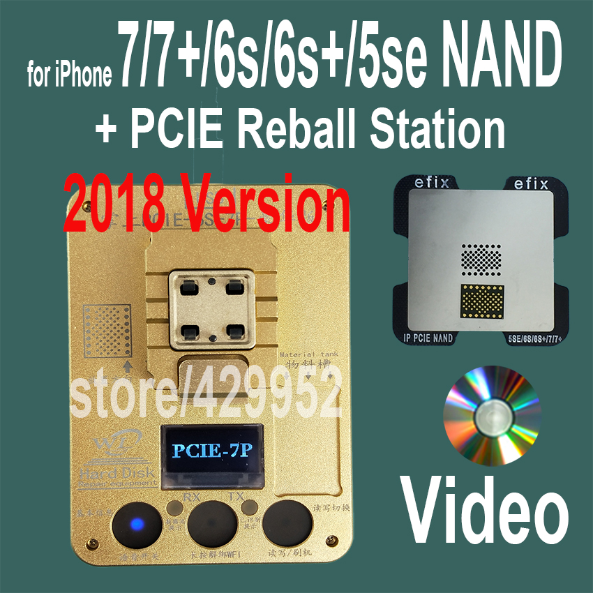 2018 Version PCIE NAND Flash Chip Programmer Tool Kits Machine Fix Repair HDD IC Serial Number for iPhone 5SE 6S 7 Plus iPad Pro 2017 version pcie nand flash chip programmer tool kits machine fix repair hdd ic serial number for iphone 5se 6s 7 plus ipad pro