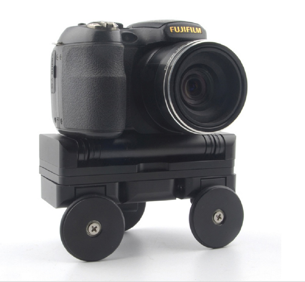 ФОТО Desktop 3 Wheel Camera Rail Car Dolly Car Video Slider Track for Canon 60D 650D 1000D 5D3 Nikon Sony DSLR Cameras Gopro Phone