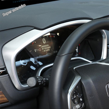 Lapetus Accessories Interior Center Console Dashboard Instrument Screen Cover Trim ABS Fit For Honda CRV CR-V 2017 2018 2019