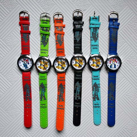 Anime Yellow Robot Transformers Children Quartz Watch Fashion Brand Kids Watches Crystal Diamond for Student Clock Dropshipping! Lahore