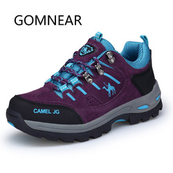 GOMNEAR Women Hiking Shoes Breathable Outdoor Trekking Shoes Woman Sports Sneakers Camel Mountain Shoes Climbing Boots Big Size