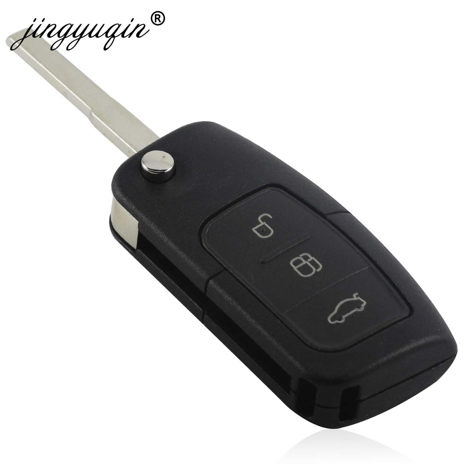 Jingyuqin 433MHz 4D63 4D60 سيارة مفتاح بعيد لفورد فيوجن فوكس مونديو فييستا غالاكسي HU101 FO21 شفرة مفاتيح السيارة الوجه
