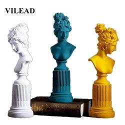 VILEAD 36cm resina Freya diosa estatuillas sala de estar hogar escultura artística estudio habitación ventana creativo retrato decoración regalos