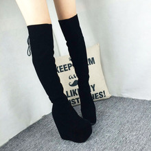 Cheap Length High Heel Shoes Wedges Over The Knee Comfortable Women s Boots For Work In