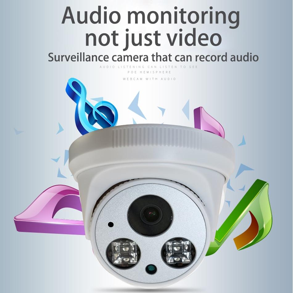Image 2 - Встроенная аудио H.265 IP камера 1080P 3mp 5mp 2,8 мм 3,6 мм ONVIF 48 в poe сетевая ipcam Внутренняя купольная камера l XMEye CCTV-in Камеры видеонаблюдения from Безопасность и защита