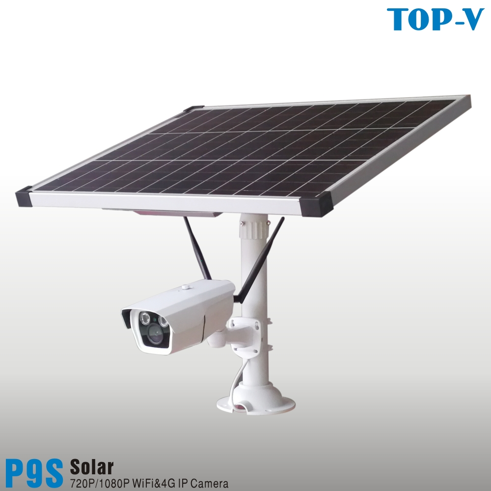 1080P HD Solar Powered 4G Wi-Fi Solar Camera With 25W Solar Panel And 10000mAh And Built-in Lithium Battery, P9s-25W