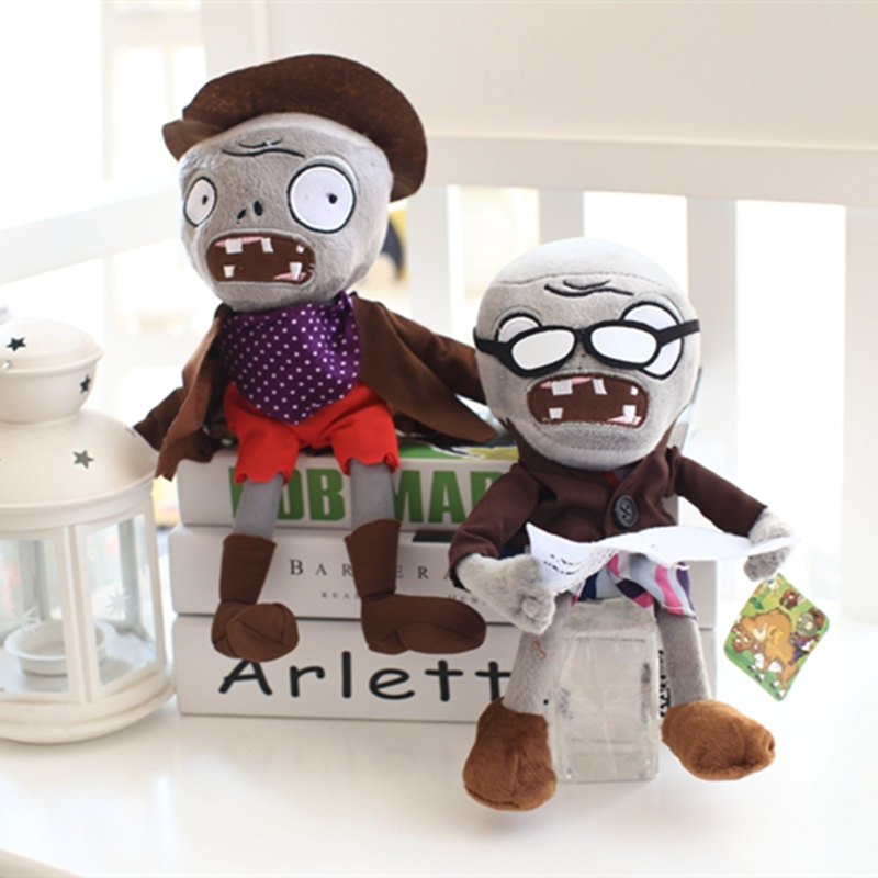 9pcs/lot 30cm Hot Plants vs Zombies Plush Plants Toys Game Figure Zombies Kids Girls Gifts Birthday Toy