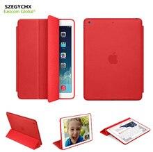 Original 1:1 PU Estuche de Cuero Para el ipad Mini 123 Smart Cover Para iPad aire 1 Para el ipad de Aire 2 Caso Auto Sleep/Wake Cubierta