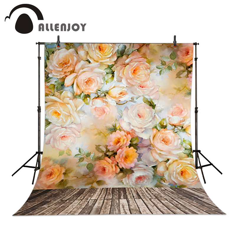 Allenjoy baby backdrop 6.5x10ft(200x300cm) Flowers blooming flowers photography background painting photo background