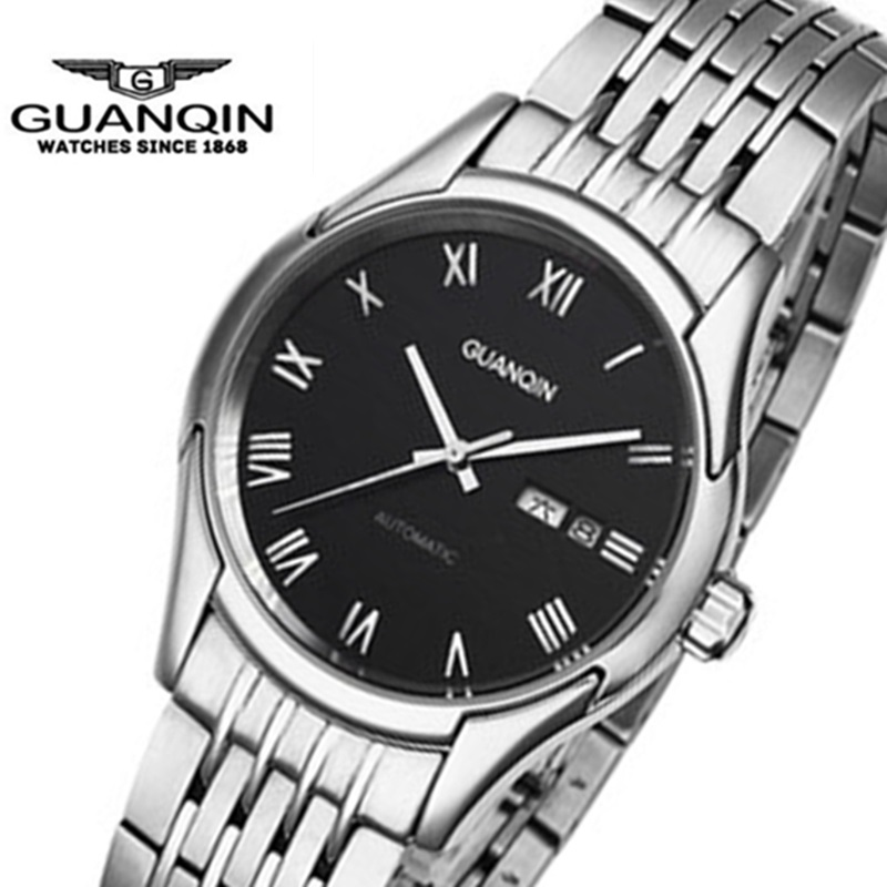 Top Brand GUANQIN Automatic Mechanical Men Watches Casual Simple Fashion Men Watch Waterproof Wristwatch Relogio Masculino Reloj forsining fashion brand men simple casual automatic mechanical watches mens leather band creative wristwatches relogio masculino