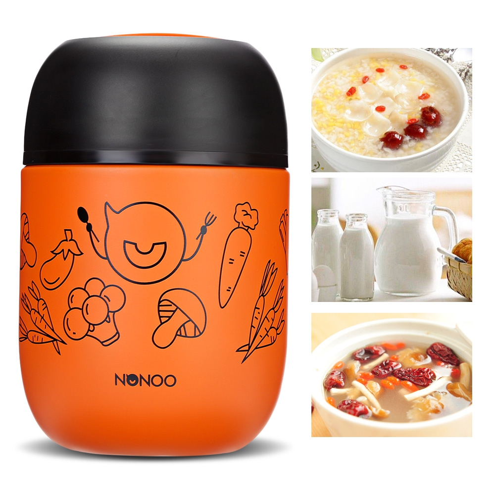 Folding Spoon 460ml Candy Color Food Soup Thermos BPA-free Stainless Steel Vacuum Thermos Lunch Box  Термос
