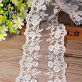 15yards*12cm Embroidery White Lace Ribbon Hight Quality Organza Lace DIY Sewing Handmade Supplies Clothes Fashion Accessories