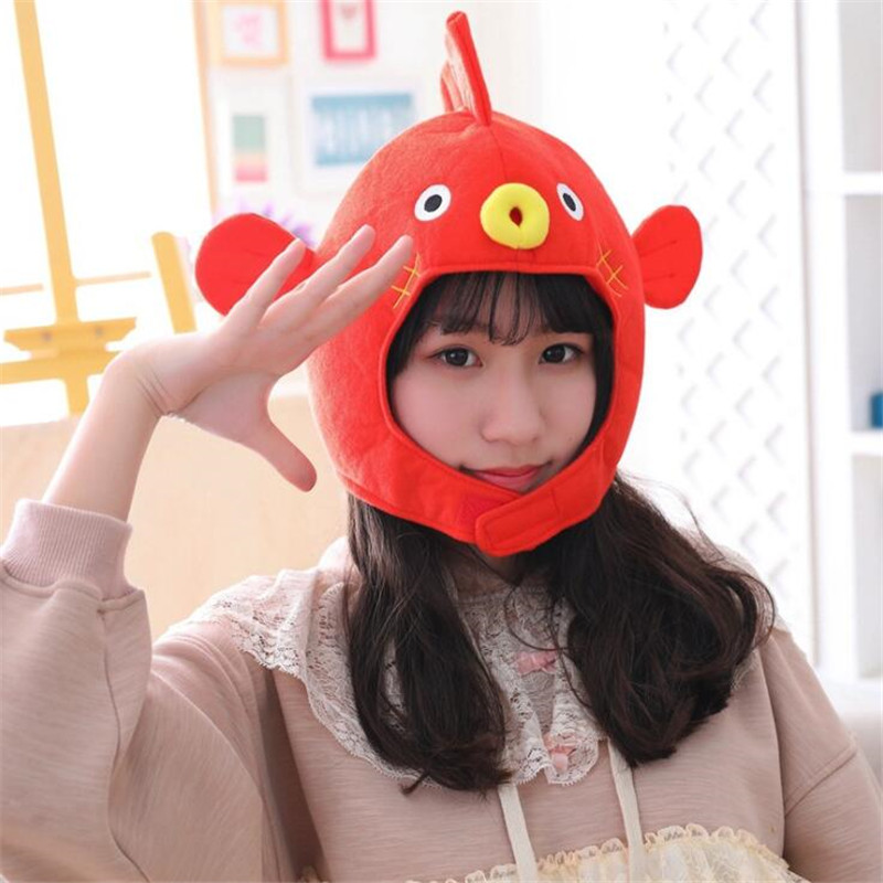 Cute Little Chicken Cock Web Celebrity Cosplay Costumes Props Accessories Hat Star Love Ear Move Jump Fancy Balloon Cap Costumes & Accessories Novelty & Special Use