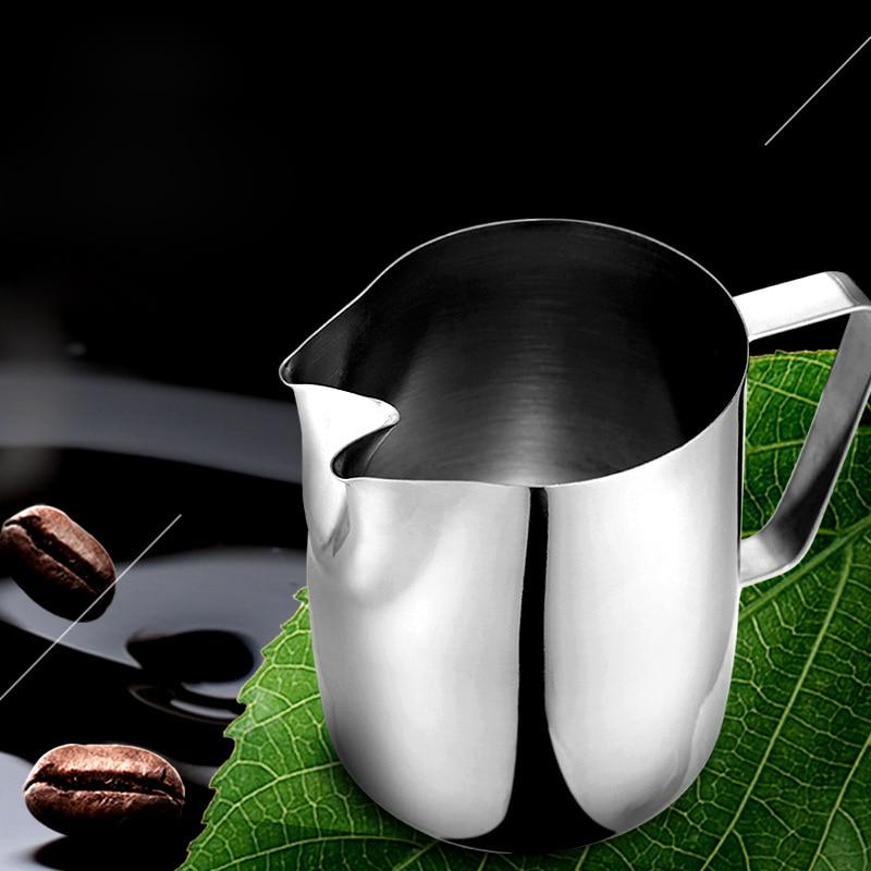 Rozsdamentes acél Twin Spout tejhabosító kancsó eszpresszó kávéfőző Barista kézműves kávé Latte tejhabosító kancsó 1000ml