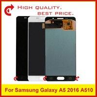 10 шт. DHL для samsung Galaxy A5 2016 A510 A510F A510M A510FD A510Y ЖК Дисплей с Сенсорный экран планшета Ассамблеи в комплекте