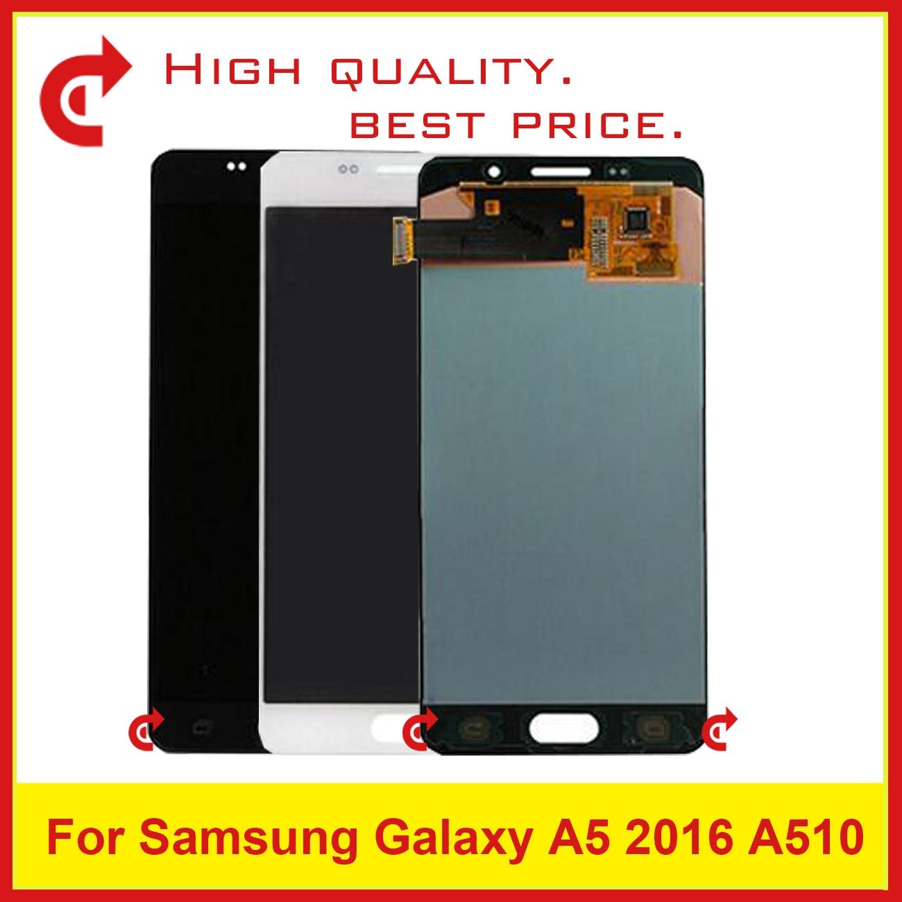10 pcs DHL Pour Samsung Galaxy A5 2016 A510 A510F A510M A510FD A510Y Écran lcd Avec Écran Tactile Digitizer Assemblée complète