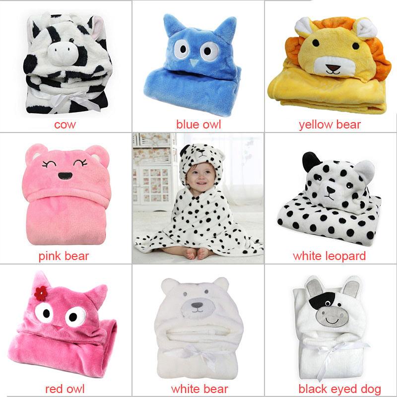 Hooded Animal Modeling Cloak Baby Bathrobe Cartoon Towel Character Kids Robe Infant Bath Towels XHC88