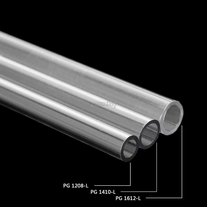 OD 12mm 14mm 16mm PETG Water Cooling Rigid Hard Tube for PC Water Cooling System 50cm AUG_22 Dropship