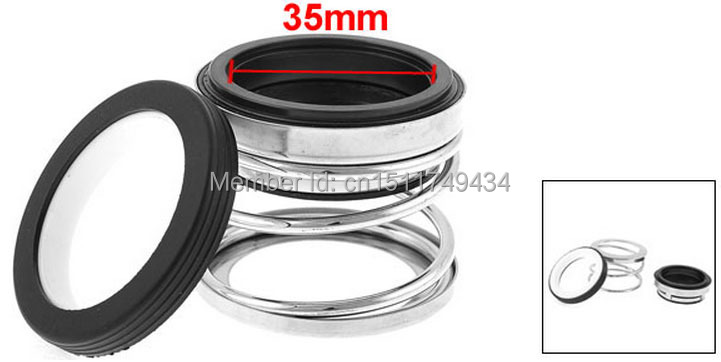 35mm Internal Diameter Rubber Bellows Coil Spring Mechanical Seal