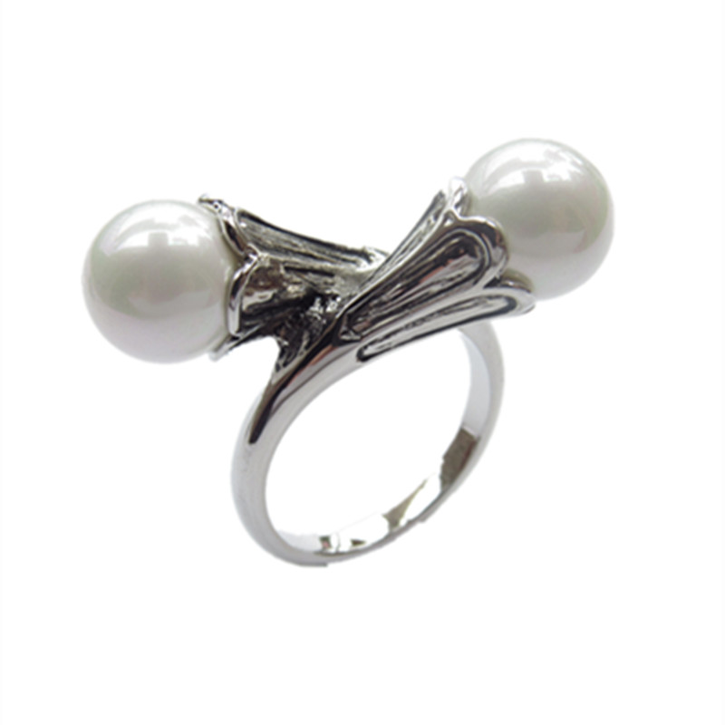 Game of Thrones ring for women Daenerys Targaryen simulated pearl vintage female ring Lovely gift vintage faux pearl twisted cuff ring for women