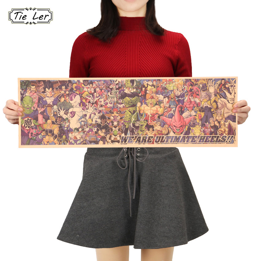 Wohnkultur FäHig Krawatte Ler Vintage Cartoon Anime Dragon Ball Charakter Serie Poster Bar Kinderzimmer Home Decor Comics 71x23 Cm Gute Begleiter FüR Kinder Sowie Erwachsene