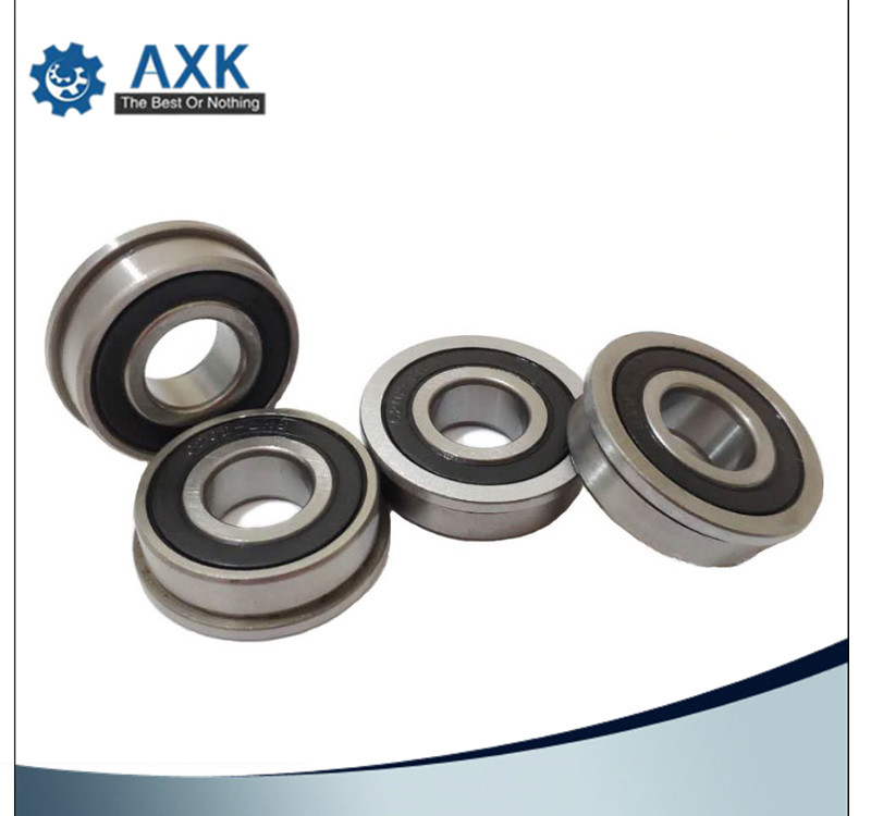 10pcs MF83-2RS Flanged Metal Rubber Sealed Ball Bearing MF83RS 3x8x3 mm
