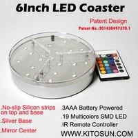 2016 온라인 쇼핑 KITOSUN 3 AA 배터리 6 인치 중앙에있는 Led 빛 자료 이벤트 장식