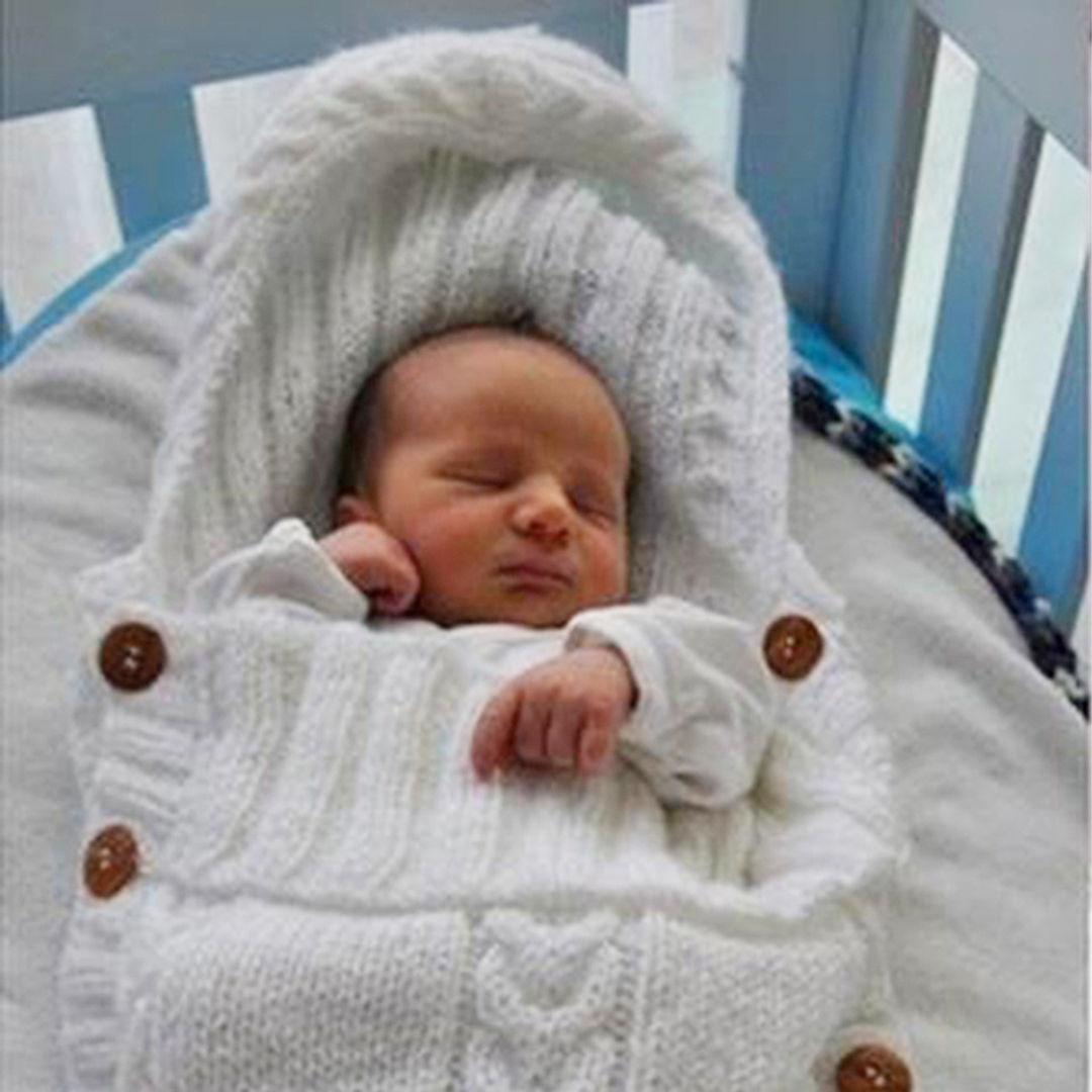 Multicolor Infant Sleeping Bag Cotton Knitting Envelope Newborn Baby Knit Blanket Swaddle Wrap Stroller Sleeping Winter
