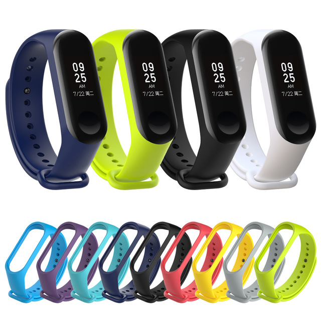 2018 Newest LYKL Sport Silicone Wrist Strap For Xiaomi MIBand 3 Strap Bracelet Replacement Wristband Band For MI Band 3 Straps