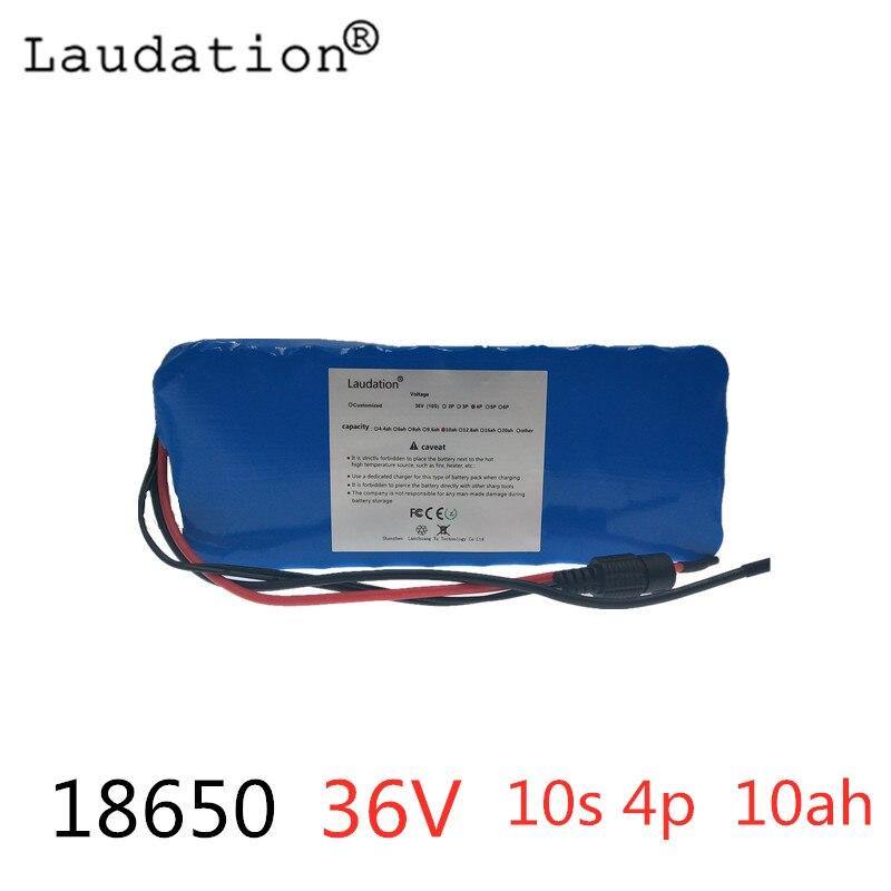 Laudation 36 V 10S4P 10Ah 500 W haute puissance et capacité 42 V 18650 batterie au lithium moto électrique voiture vélo scooter avec BMS